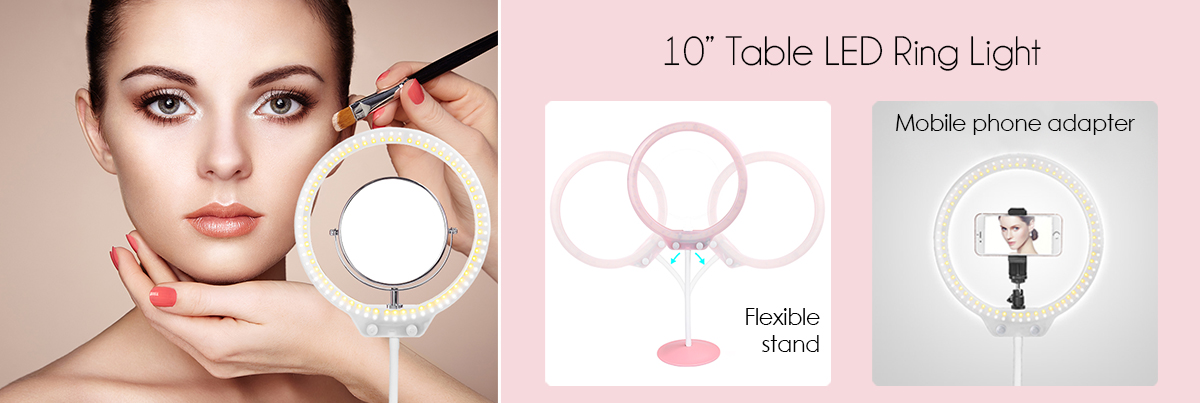 Dimmable Table Ring Light 10inch Zomei
